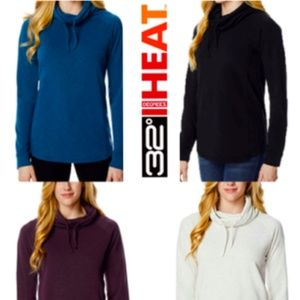 Women's 32 Degrees Heat Funnel Neck Long Sleeve